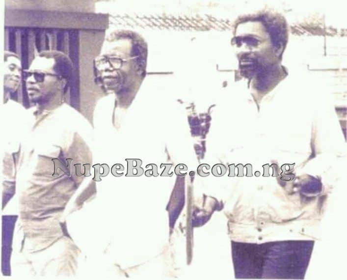 Chinua Achebe, Wole Soyinka and John Pepper Clark Bekederemo
